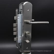 Serrure de porte de sûreté avec le cylindre en laiton de profil d'euro dans les serrures de glissement de surface de nickel de satin Sécurité