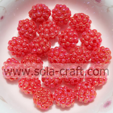 Colorful Opaque Small Acrylic Strawberry Solid Beads