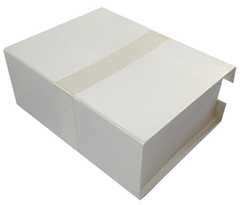 Luxury Rigid White Gift Box with Ribbon