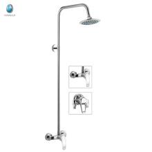 KDS-14 bathroom wave spout round single handle cheap shower faucet set, ceramic cartridge rain shower set without hand shower