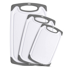 hot selling reversible large small Anti spill no slip plastic kitchen cutting board