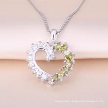 2018 Classical Semi-precious Stone Love Heart Pendant Necklace