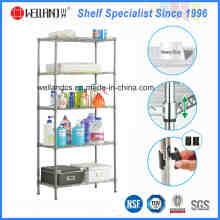 5 Tiers ajustável Metal Corner Rack de casa para casa