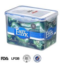 Luftdichte transparente Kunststoffbox mit Fach