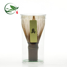 En stock Hecho a mano 80 dientes Purple Bamboo Matcha Chasen Whisk