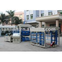 Ladrillo de cemento que hace la máquina