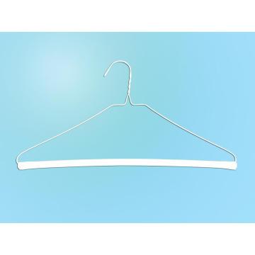 """16""""14.5g White Powder Strut Dry Cleaner Hanger"""