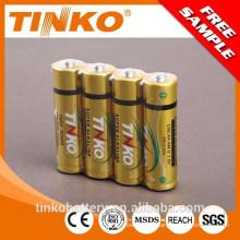 with card or shrink packing alkaline 1.5V battery LR03