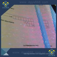 Unsichtbares UV-Sicherheitszertifikatpapier mit Faser nach innen
