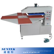 Máquina de transferência de calor rotativa automática com 4 estações de trabalho