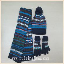 scarvf мальчиков зимняя акрил трикотажные перчатки и шляпа