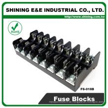 FS-018B 600V 10 Amp 8 Way Midget Typ Din Rail Glas Sicherung Träger