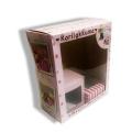 Caixa de embalagem de presente com janela PET