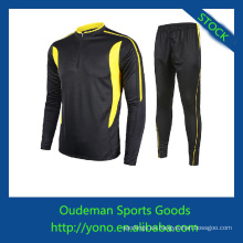 De calidad superior de spandex y poliéster materiales de manga larga camisetas de fútbol baratas
