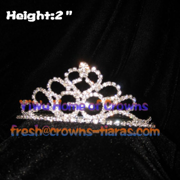 2in Mini Crystal Tiaras