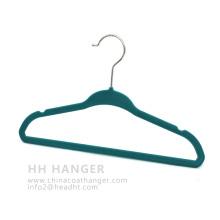 China Colorful Matt Velvet Flocked Baby Hanger for Childrens′ Clothes