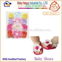 Chaussures mignonnes pour bébés et bandeau
