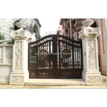 Puertas de entrada de puerta de seguridad de metal forjado de estilo automático de hierro forjado