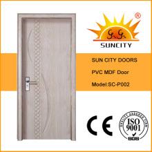 PVC Surface Apartment Wooden Doors Design