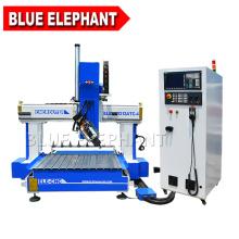 Elefante azul de alta qualidade grande eixo z 1212 cnc router com mesa de slot de t de alumínio