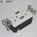 BAS20-2USB Enchufe eléctrico personalizado enchufe inteligente multi enchufe