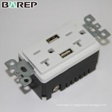 BAS20-2USB Prise électrique personnalisée prise intelligente multi sortie