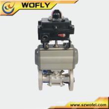 Bola tipo industrial DN 25 ss304 válvula de água elétrica