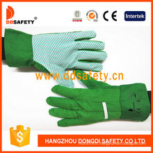 Cotton Canvas PVC Dotted on Palm Working Protection Garden Gloves