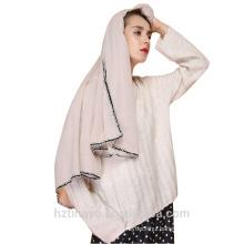 Luxury Tassel Hijab islamic cotton European Style Shawls pom pom Women Scarf Tassels Scarves