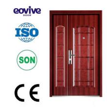 La aleta garaje puerta hierro acero puerta puerta seguridad puerta diseños de acabado de superficies