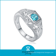 Vogue Aquamarine 925 Silver Jewelry Ring with Low MOQ (R-0155)