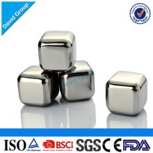 Certified Top Supplier Wholesale Custom Patent Stainless Steel Wine Ice Cubes Chiller Cubes