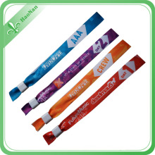 2016 Newest Style Woven Fabric Wristband with Recycling Use Beads