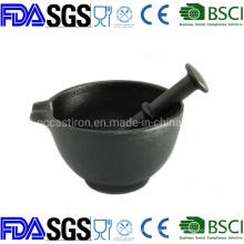 Preseasoned Cast Iron Mortar and Pestle Dia: 15.5cm China Factory
