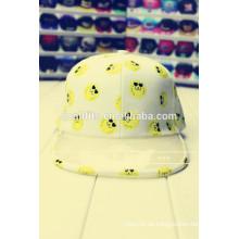 2016 neueste korea fashion cap mit durchsichtigen pvc flache rand snapback cap