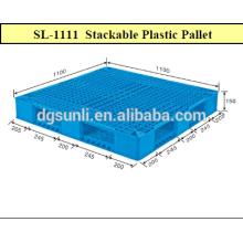 Paletas de plástico rejilla estándar servicio pesado de doble cara para la venta