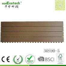 Tablero compuesto de la sauna de la teja de la cubierta de 300 * 900m m del polímero de madera WPC