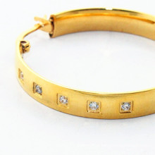 Alibaba nova chegada ouro rodada diamante brinco desenhos