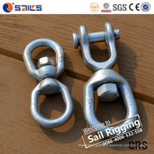 Hot DIP Galvanized Us Type Carbon Steel Drop Forged G402 Eye Eye Chain Swivel