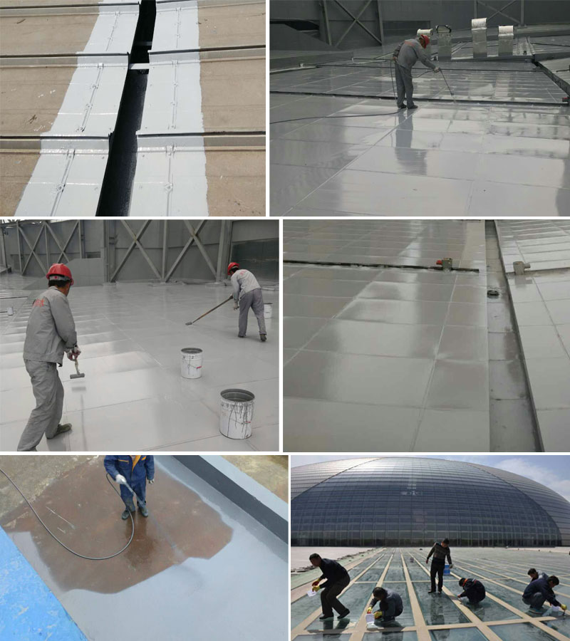 Waterproof sealant paint for metal steel roof
