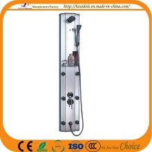 Black Aluminum Shower Panel with Adjustable Jets (YP-008)