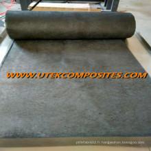 Le tissu de carbone a été utilisé pour ajouter de la rigidité à la fibre de verre