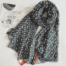 2017 spring wholesale best quality promotional multi fuction lady small floral scarf