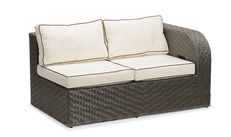 S0214 L Arm Loveseat Wicker