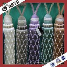 Exquisite Suede Tassels Beaded Trims Tiebacks for Curtain