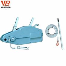 Polipasto de tracción de la cuerda de alambre de la mano 0.8T 1.6T 3.2T 5.4T