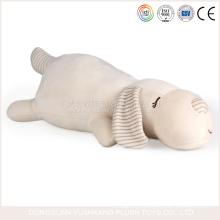 Custom Dog Shape Soft Pillow White Grey Stuffed Dog Plush Toys