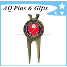 Custom Golf Divot Tool in Antique with Ball Marker (golf-10)