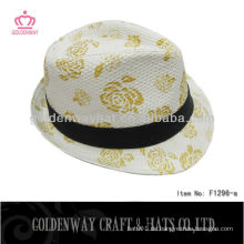 Hochdruck Fedora Hüte Männer Papier Stroh Fedora Hut Rabatt Hüte