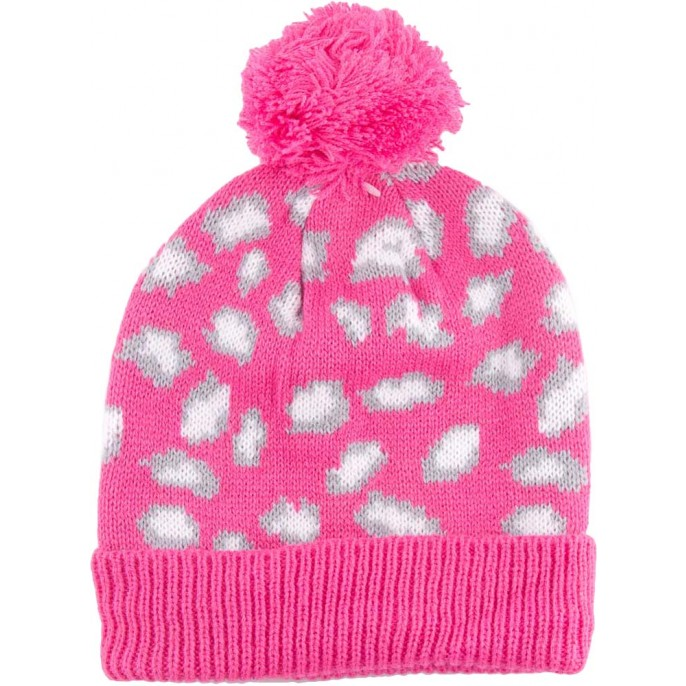 Girls Bobble Hat Pink